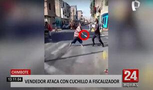 A cuchillazos se enfrentó un ambulante contra un fiscalizador para evitar desalojo