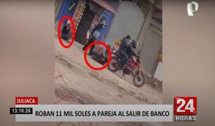 Tres delincuentes roban más de 11 mil soles a una pareja de comerciantes
