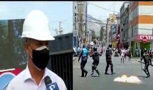 Jorge Muñoz sobre enfrentamiento de ambulantes contra fiscalizadores: Es un acto delincuencia