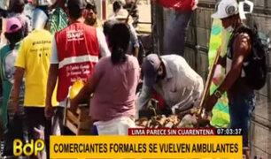 Cuarentena en Lima: comerciantes se han convertido en ambulantes para generar ingresos