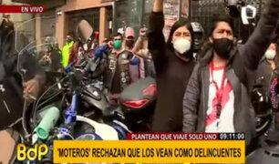 Motociclistas anuncian huelga nacional ante prohibición de circulación con dos ocupantes