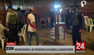 Más de 30 personas fueron detenidas por estar en bares clandestinos en Tumbes