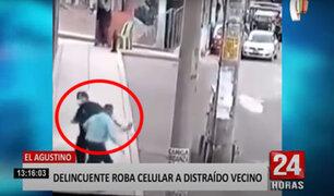 El Agustino: roban celular a sujeto distraído mientras caminaba