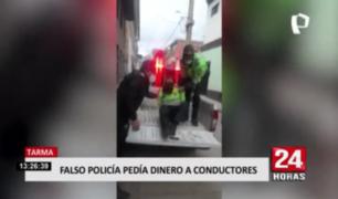 Tarma: falso policía pedía dinero a conductores