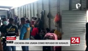 Tumbes: cochera era usada como refugio de ilegales