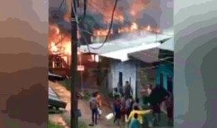 Iquitos: fuga de gas ocasionó incendio y dejó 6 viviendas en cenizas