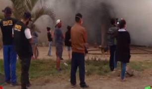 Callao: Incendio en almacén de madera dejó a dos familias sin hogar