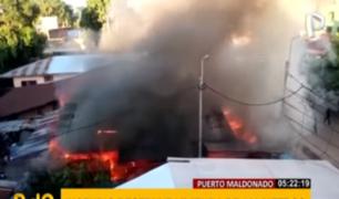 Puerto Maldonado: incendio consume vivienda de 500 metros cuadrados