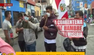 La Victoria: ambulantes piden al Gobierno poder trabajar