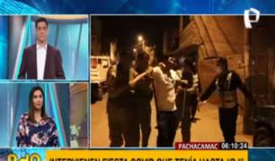 Pachacamac: jóvenes intentan agredir a policías tras ser descubiertos en 'fiesta COVID'