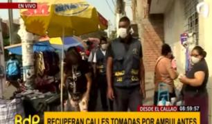 Callao: retiran a ambulantes que ocupaban zona de Bocanegra
