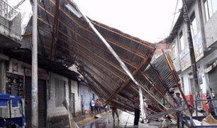 Junín: fuertes vientos causan destrozos en viviendas, centros educativos y  mercados