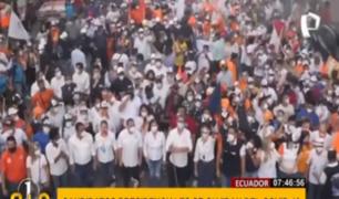 Ecuador: caos en cierre de campaña electoral