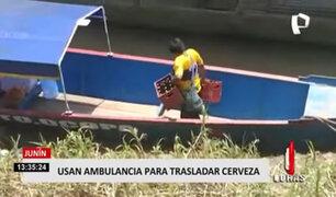 ¡Increíble! ambulancia pluvial es usada para transportar cerveza pese a crisis sanitaria