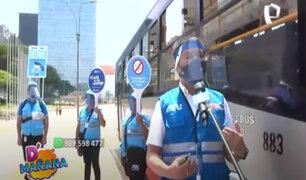 D´Mañana: ATU informa sobre los estrictos protocolos sanitarios en el transporte público