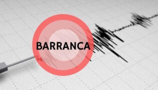 Lima: sismo de magnitud 4.4 se registró esta tarde en Barranca