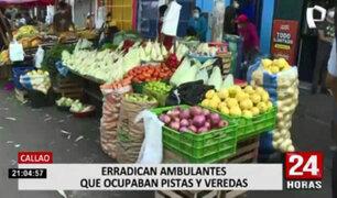 Municipalidad del Callao y La Victoria realizaron operativos para erradicar ambulantes