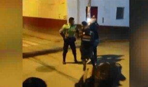 Huánuco: Sujeto agredió a policía durante toque de queda