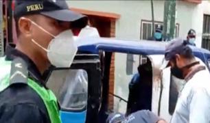 Surco: serenos detienen a mototaxista que intentó fugar tras intensa persecución