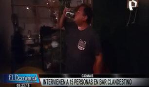 Comas: intervienen a 15 personas bebiendo licor en bar clandestino