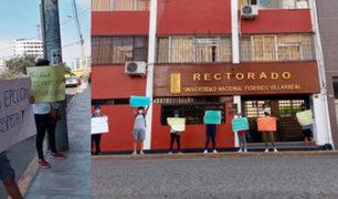Alumnos de la UNFV denuncian que no tienen profesores desde hace varios meses