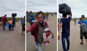 Tumbes: migrantes se enfrentan a los militares en su intento por cruzar la frontera