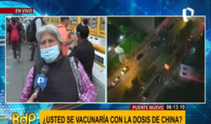 Puente Nuevo: personas aún muestran dudas por vacuna COVID-19
