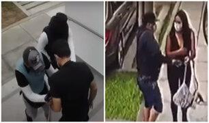 Delincuentes en modernos autos asaltan a transeúntes de Miraflores y Surco