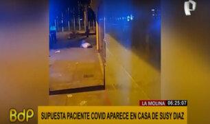Susy Díaz: supuesta paciente con covid aparece tirada en la puerta de su casa en La Molina
