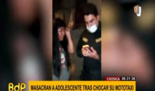 Chosica: sujetos chocan mototaxi y agreden a toda una familia