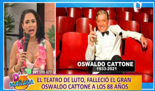 "Adriana Quevedo se despide de Oswaldo Cattone: ""Gracias por todo lo que me enseñaste"""