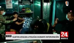 Infractores agreden a policías al ser intervenidos en un local nocturno