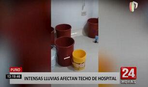 Intensa lluvia y granizo inundó hospital de EsSalud en Puno