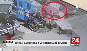 ¡El colmo! ladrones le roban carretilla a una señora que vendía ceviche