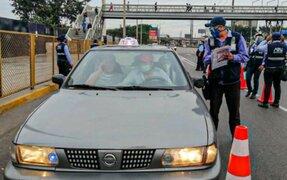 ATU dispuso que taxistas cuenten con autorización para brindar servicio en Lima y Callao