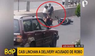 Los Olivos: repartidor de delivery casi es linchado tras ser acusado de robo