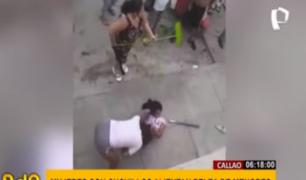 Increíble: mujeres alientan pelea de menores en el Callao