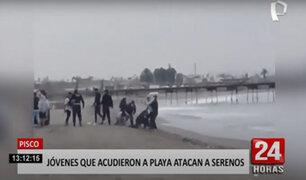 Pisco: jóvenes agreden con golpes y patadas a serenos que los intervinieron