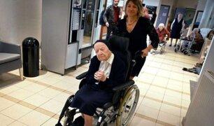 Francia: mujer más longeva de Europa derrotó a la COVID-19