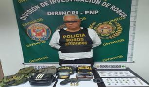 San Miguel: capturan a delincuente que  fingió ser policía y robó en lavandería