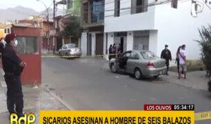 Los Olivos: asesinan de seis balazos a hombre que estaba dentro de su vehículo