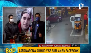 Padre de joven asesinado en VMT pide ayuda a Andrés Hurtado