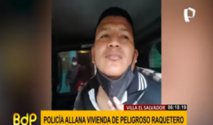 VES: presunto 'raquetero' fue detenido dentro de su vivienda