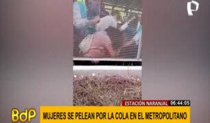 Metropolitano: dos mujeres se pelean frente a usuarios en estación Naranjal