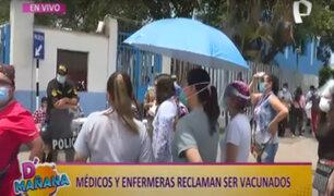 Hospital Rebagliati: médicos y enfermeras exigen ser vacunados contra covid-19