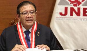 """JNE garantiza elecciones correctas: """"No vamos a permitir que se hable de fraude"""""""