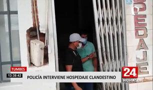 Tumbes: Intervienen burdel clandestino que funcionaba como hospedaje