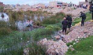 Puno: agentes PNP rescatan de río cadáver de joven que desapareció en enero
