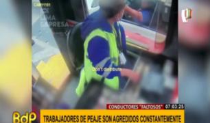Vuelven cobardes agresiones a trabajadores de peajes