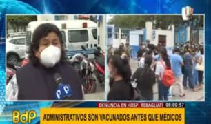 Hospital Rebagliati: médicos señalan que incluso teletrabajadores han sido considerados en vacunación
